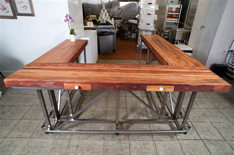 Table Island Kitchen by Custom Ox U Bar By Dumptruck Design Custommade Com