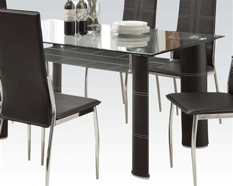 modern style dining tables modern style dining set riggan by acme furniture ac70200a set