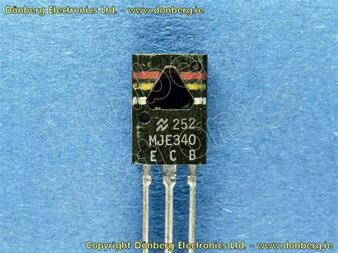 transistor mje340 semiconductor mje340 mje 340 transistor silicon npn 300v 0 5a 20w power us