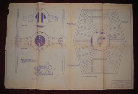 tie fighter blueprint wars collectors archive