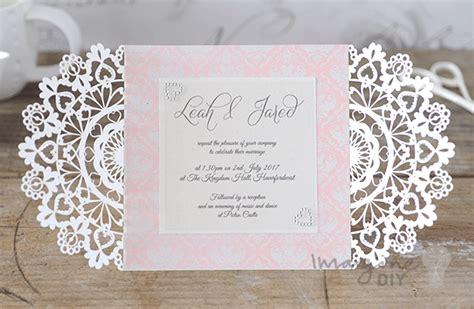 how to make arabesque laser cut invitation imagine diy