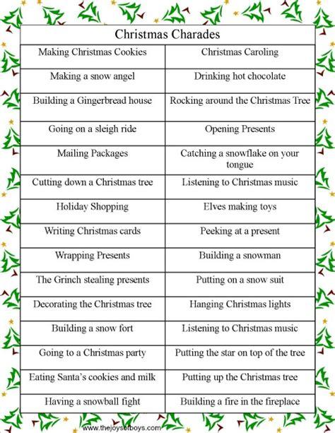 Christmas game charades