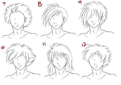 anime hairstyles guys tutorial anime male hair style 2 by ruuruu chan on deviantart