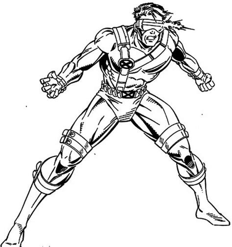cyclops marvel coloring pages the eyes power is specialty of cyclops x men coloring
