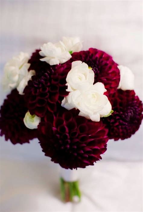 Textured wine colored flowers.   Cranberry Wedding   Pinterest