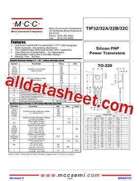 transistor tip32c datasheet tip32c bp datasheet pdf micro commercial components