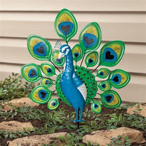 peacock lawn stake yard yard ornaments kimball