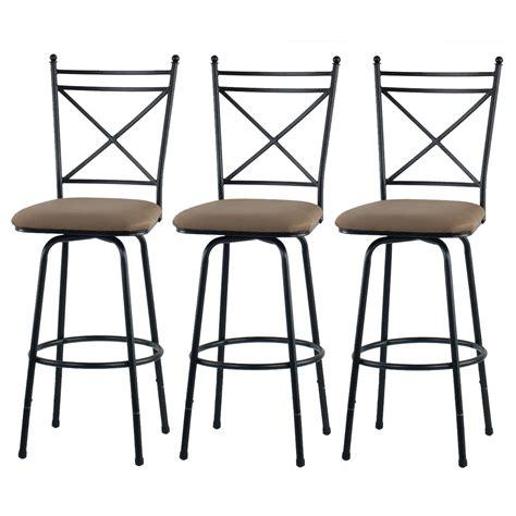Metal Footrest For Bar Stools by Height Adjustable Metal Swivel 3 Bar Stools Footrest