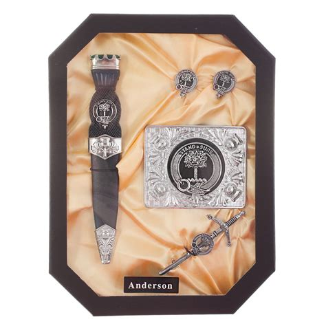Gift Ideas Starting With Letter Y hos pewter scottish boxed clan gift set names starting
