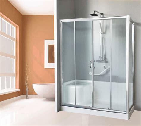 box doccia per vasca da bagno box doccia completo di piatto e seduta per sostituzione