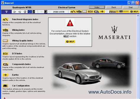 Epc Maserati maserati quattroporte my06 parts catalog repair manual