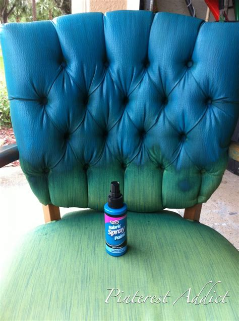 upholstery dyeing pinterest addict tulip fabric spray paint chair