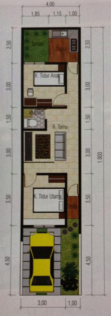 desain dapur lebar 2 meter desain rumah minimalis lebar 4 meter