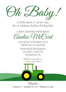 printable baby shower invitation tractor theme
