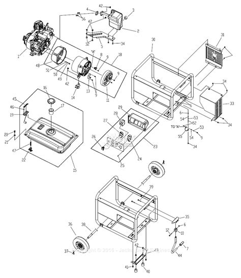 generac parts diagram generac 0059820 gp3250 parts diagram for assembly