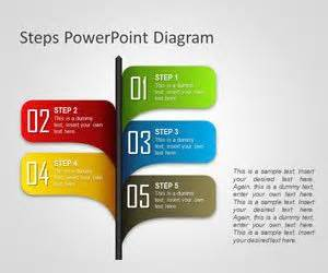 free 5 steps powerpoint templates