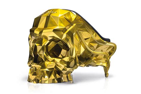 The Angular Skull Armchair by Gold Skull Armchair