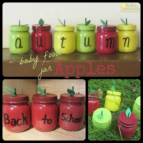 baby food jar crafts projects beth s lemonade baby food jar week apple jars and the