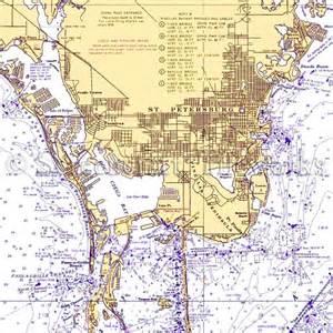 florida st petersburg nautical chart decor