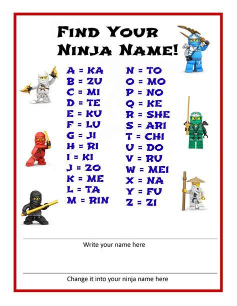 what s your ninja name pinteres