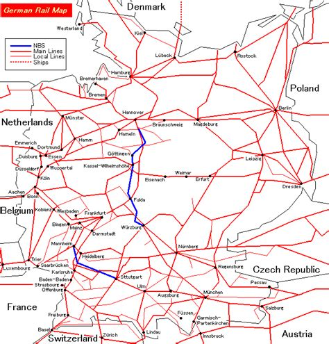 german system map german railway map images search