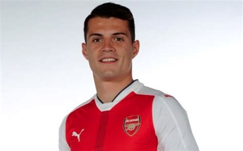 granit xhaka squad number arsenal new boy to take jersey