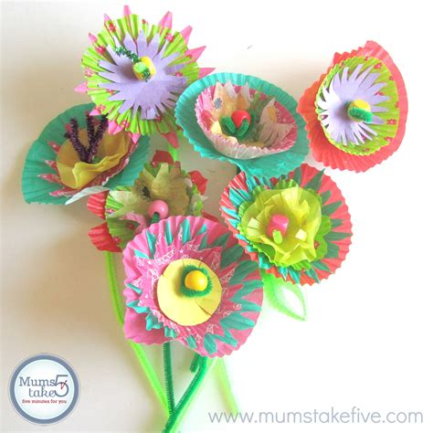 Paper Flower Craft For Preschoolers - paper flower craft