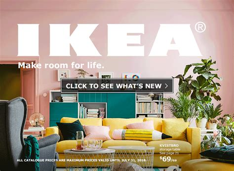 ikea catalog the ikea catalogue 2018 make room for ikea