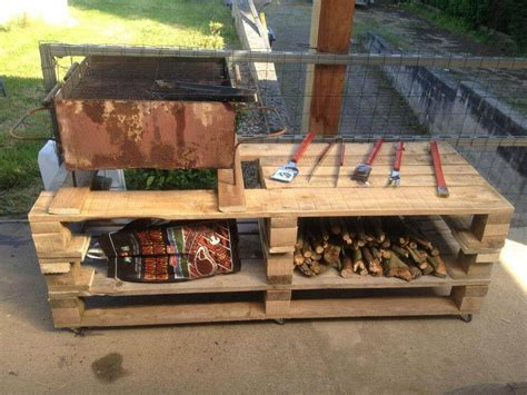 Handmade Grill - wooden pallet bbq grill table 101 pallets