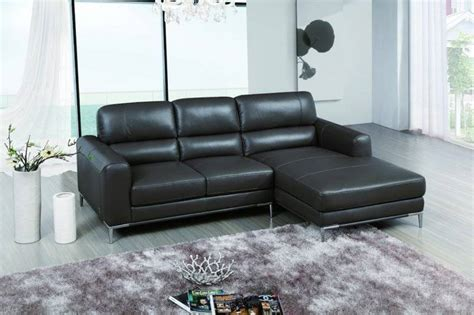 Small Apartment Size Sectional Sofas by Bone Colored Top Grain Leather Sectional Sofa With Chrome