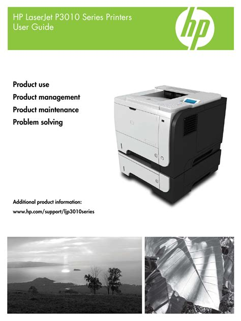 Hp Laserjet P3015 User Manual 246 Pages Also For