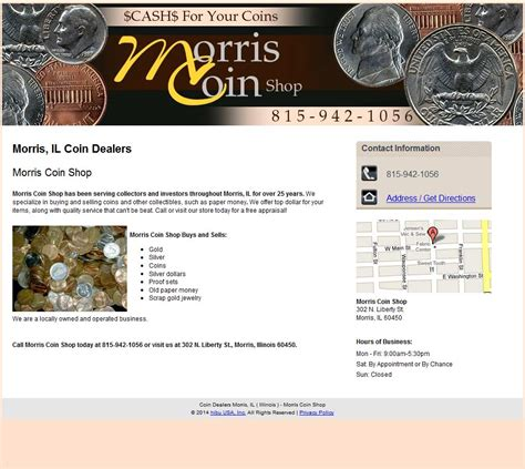 morris coin shop reviews ratings and company details
