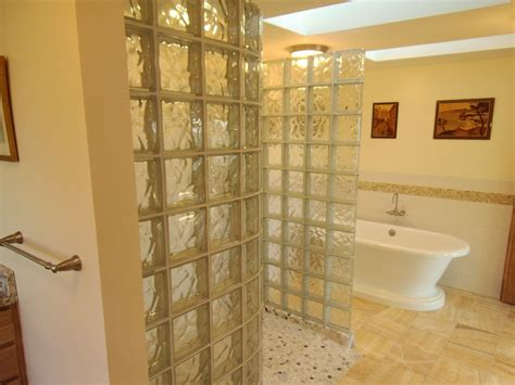 glass block bathroom ideas glass block walk in shower innovate building solutions