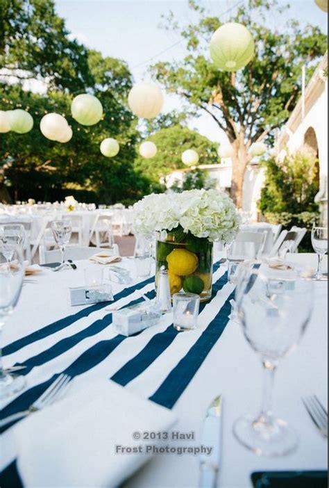Setting Table Green Navy White Yellow Wedding Table Setting Navy