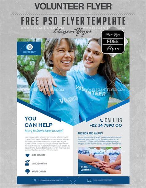 20 Best Free And Premium Non Profit Flyer Brochure Psd Templates By Elegantflyer Volunteer Flyer Template