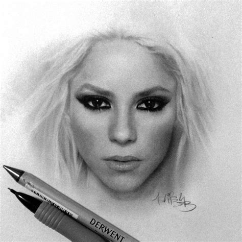 shakira drawing shakira drawing by ilovehash drawings pinterest