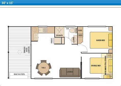 caravan floor plan layouts holiday cabins at arno bay caravan park on eyre peninsula