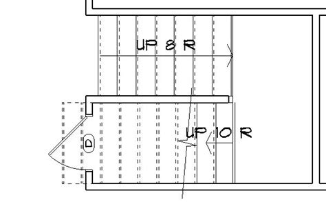 stairs floor plan symbol can i hide the top of the stair on the floorplan