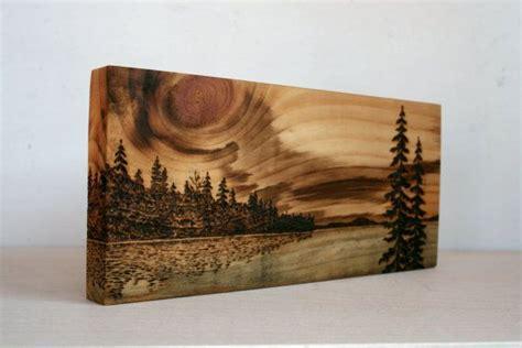 sunset art block wood burning wood art wood burning crafts wood burning art