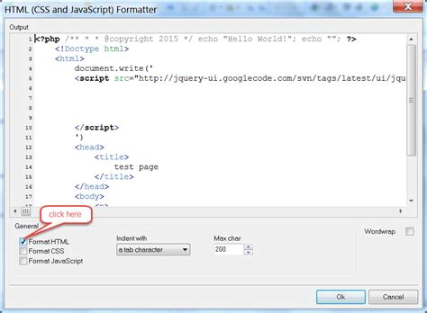 format html xcode php html code formatting in phpdesigner ide version 7 0