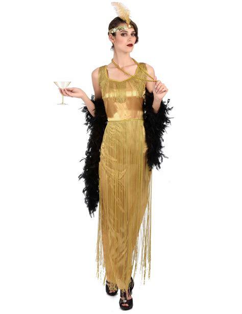 costume da bagno anni 30 costume charleston dorato a frange per donna costumi