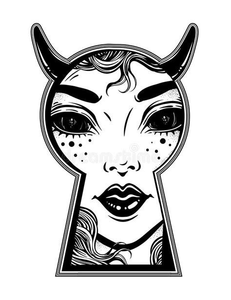 Progettazione Femminile Della Camicia Del Diavolo
