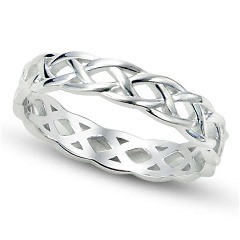 sz 6 sterling silver 925 celtic knot eternity band ring