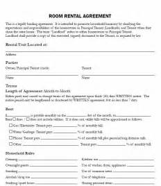 tenancy agreement template for renting a room 10 best images about printable agreements on