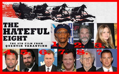 film quentin tarantino hateful eight the full cast of quentin tarantino s the hateful eight