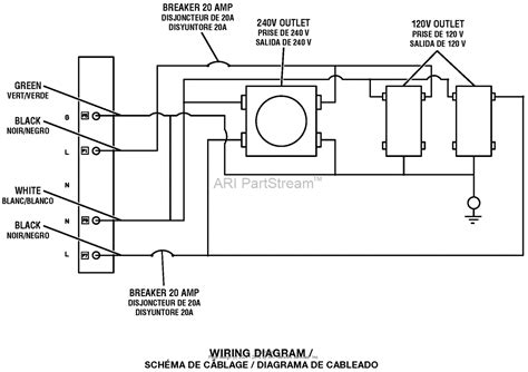 diagram generator homelite ut905000p 5000 watt generator parts diagram for
