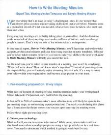 writing meeting minutes template 22 business minutes templates free sle exle