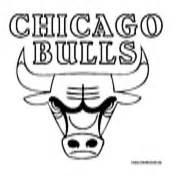 Chicago Bulls Logo Outline by Basketball Coloring Pages Nba Coloring Pages