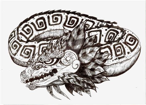 aztec dragon tattoo quetzalcoatl design by unoyente on deviantart