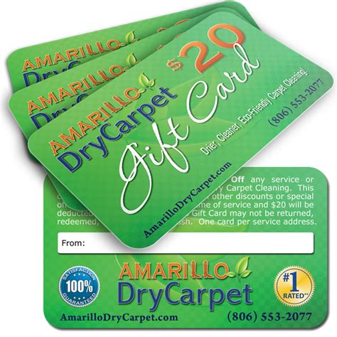 promotional gift cards strong carpet cleaning - Promotional Gift Cards
